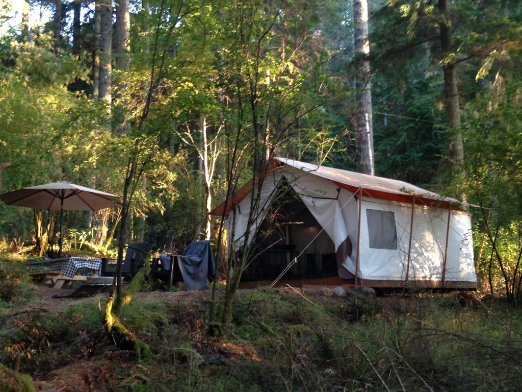 My 'glampsite' at Leanto Camps - Moran State Park - Orcas Island. Glamping in the San Juan Islands - LifeBeyondBorders