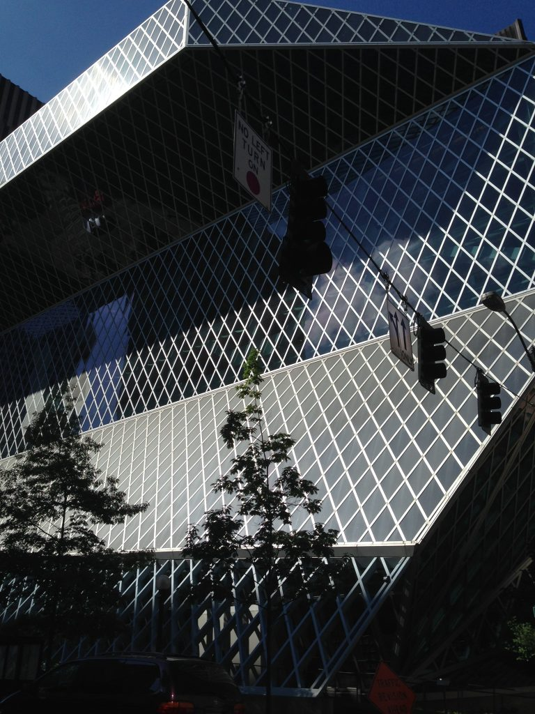 Outside of Seattle Public Library