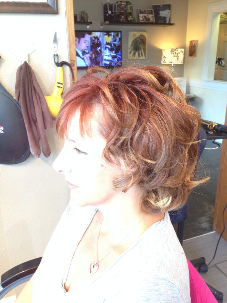 Part of the finished product. Antonio of CoCo and Co Hair Salon in West Seattle worked on my hair