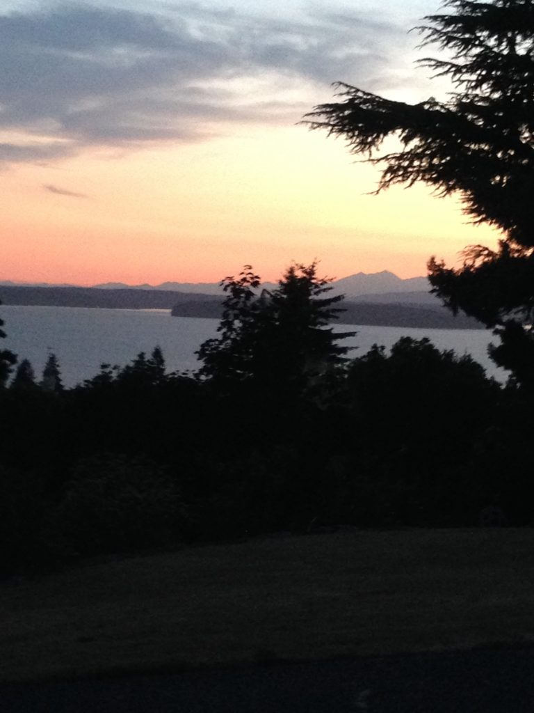 Looking to Puget Sound at sunset, from West Seattle