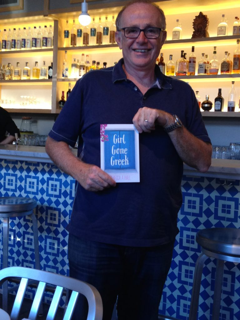 Thomas Soukakos, Owner of Omega Ouzeri in Seattle - excited about my debut novel 'Girl Gone Greek.""