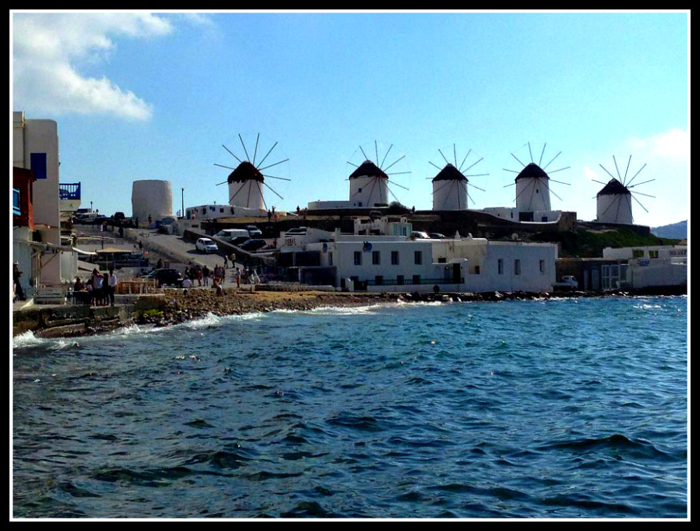 Famous windmills of Mykonos, Greece - LifeBeyondBorders