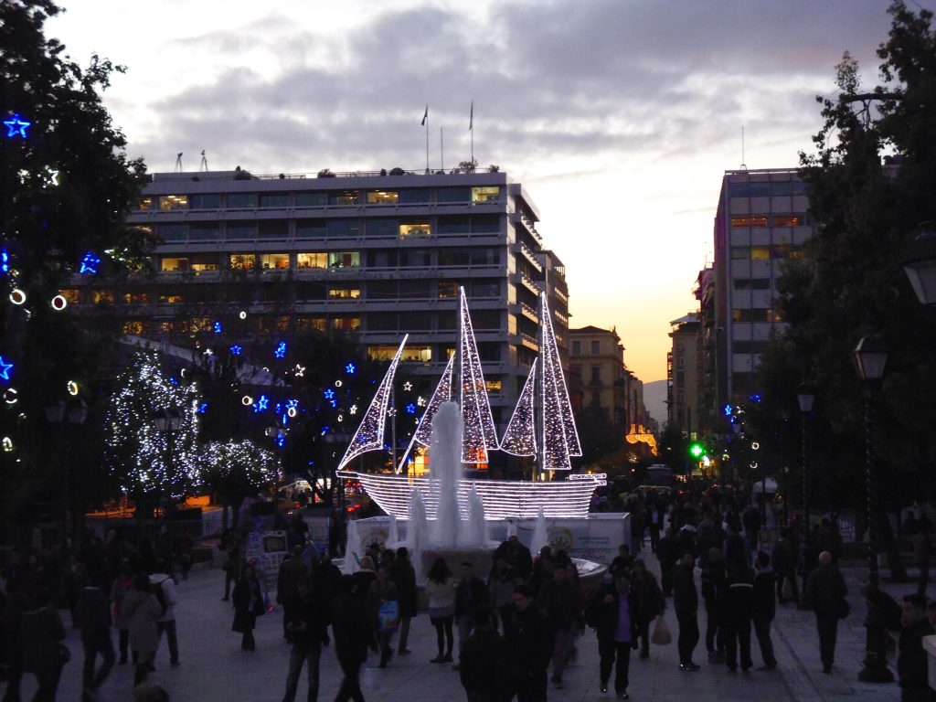 Christmas Ship in 2013 - Christmas Lights in Athens