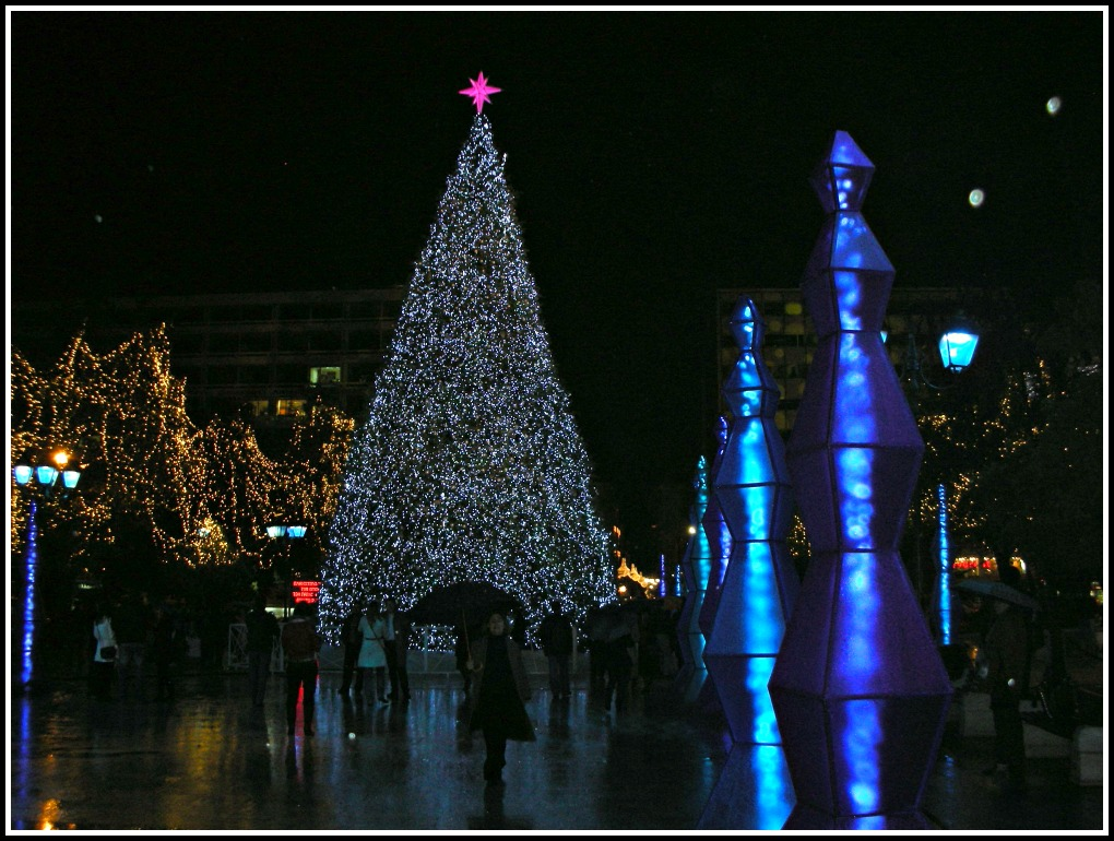 Christmas Tree in Syntagma Square, Athens - Greece - 2015
