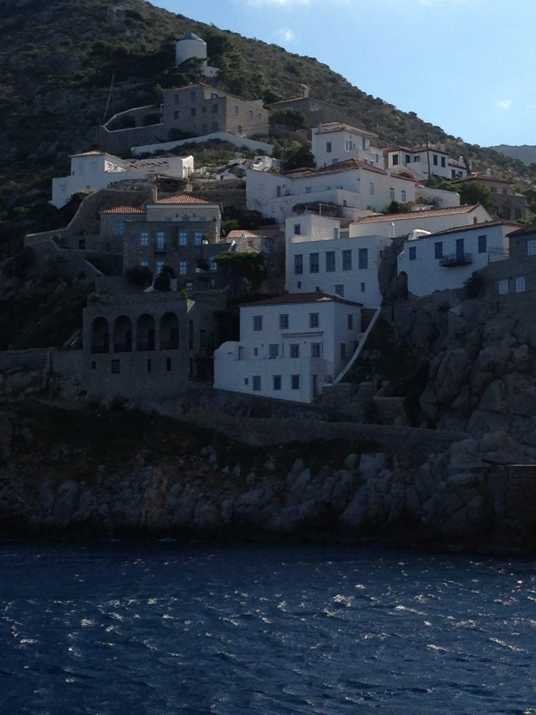 Coming into Hydra with Olympic Cruises