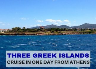 Three Greek islands in one day from Athens