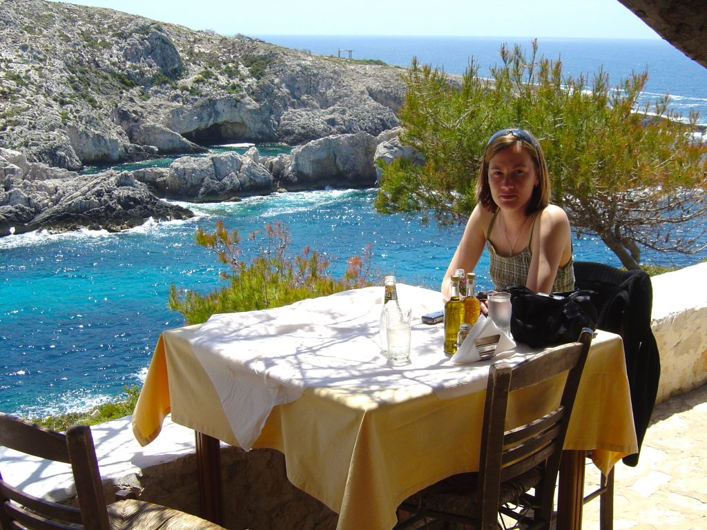 Chrissie Parker in Zakynthos - Author of Among the Olive Groves