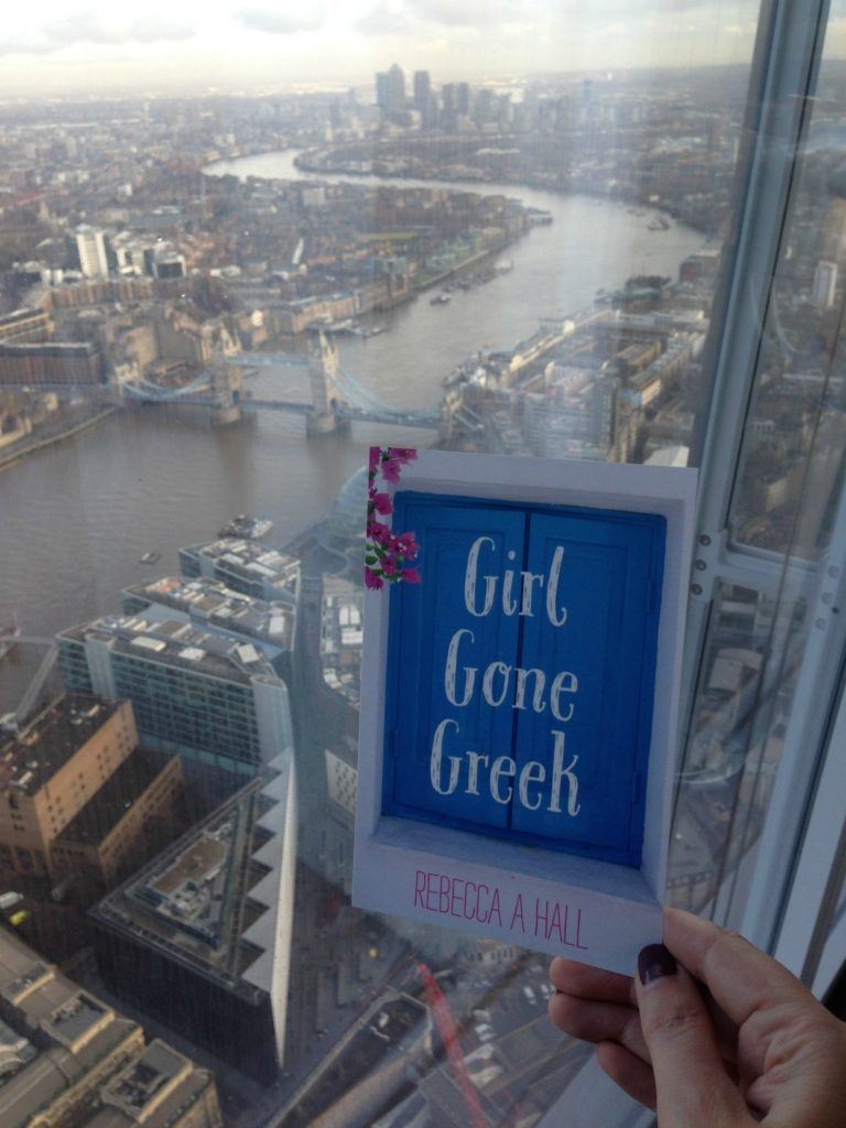 Even my debut novel - Girl Gone Greek enjoys the view from The Shard!