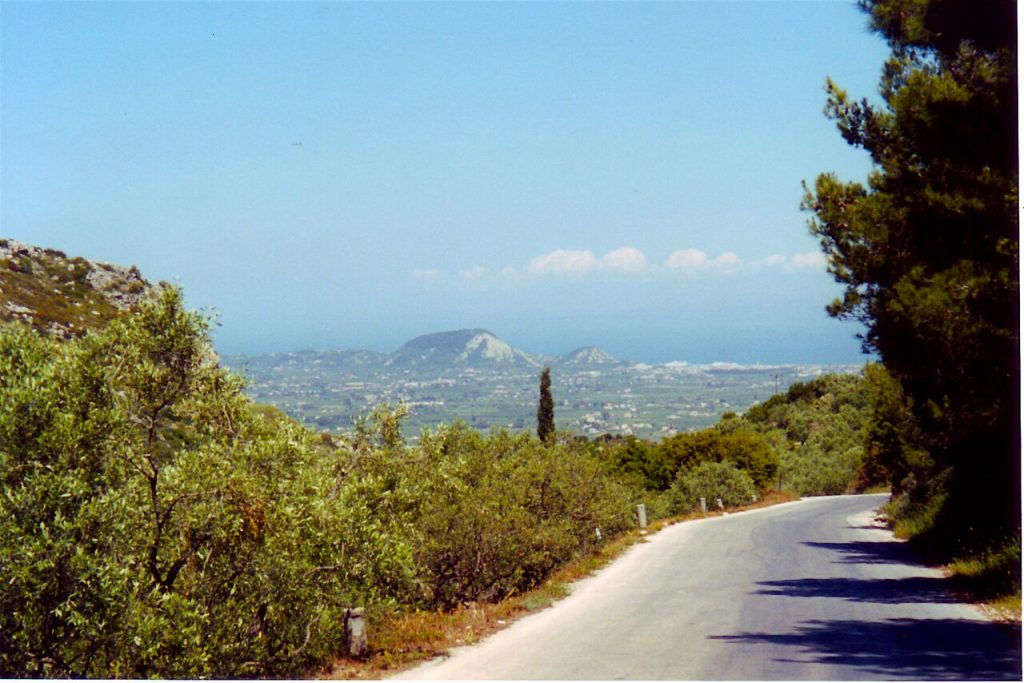 Mountain road - Zakynthos. Among the Olive Groves