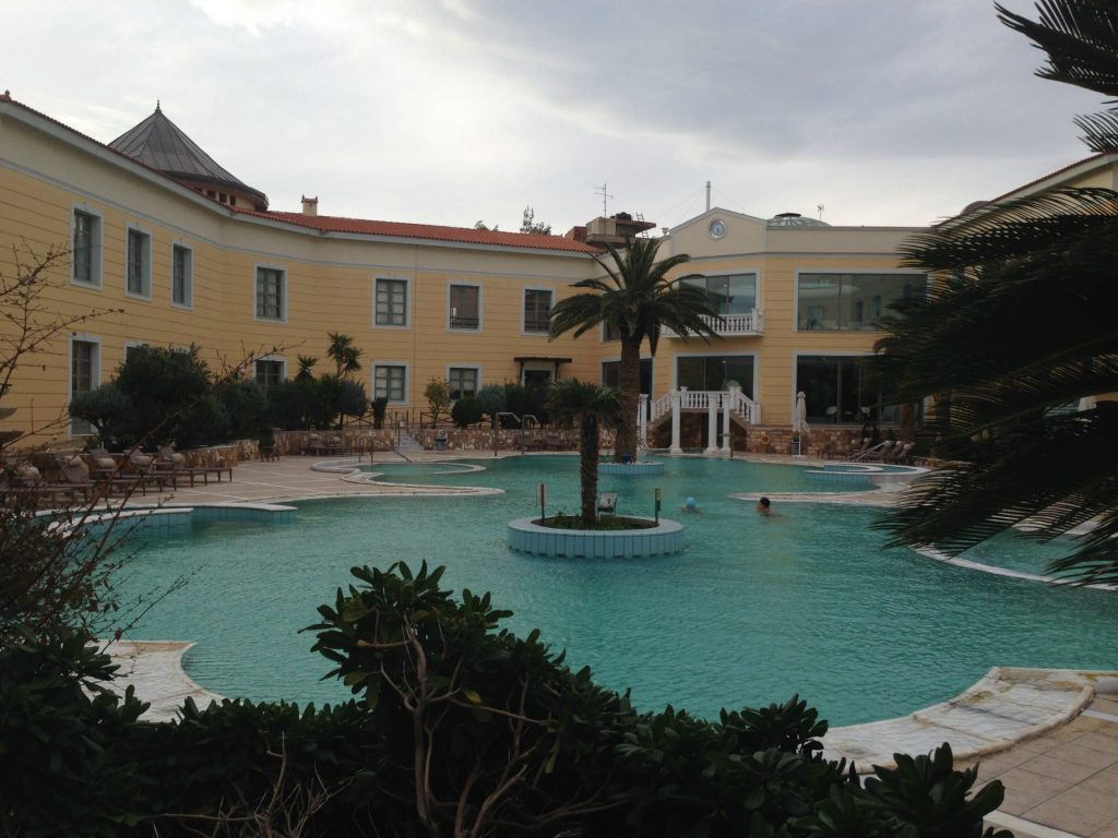 Outdoor pool at the Thermae Spa Hotel - Evia