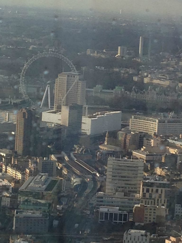 View of The London Eye from The ShardObservation Deck