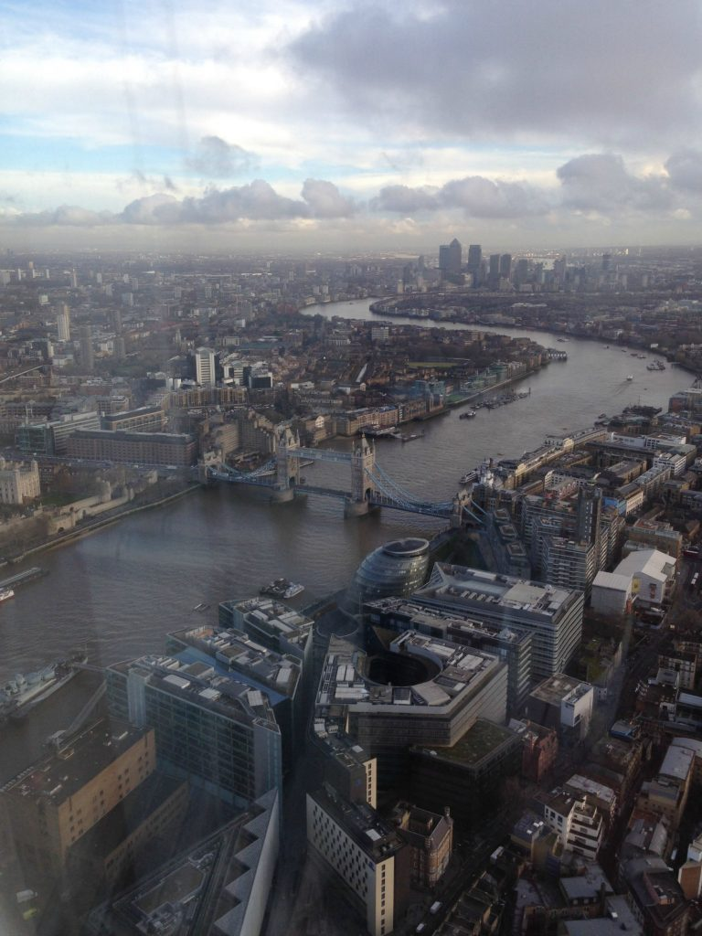 Tower Bridge from The Shard Observation Deck
