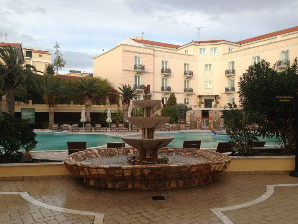 View of the outdoor pool at Thermae Sylla Spa Hotel - Evia