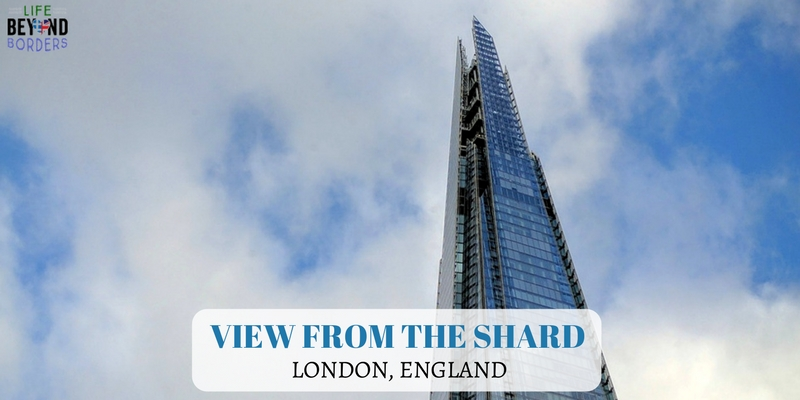 View from the Shard - London England