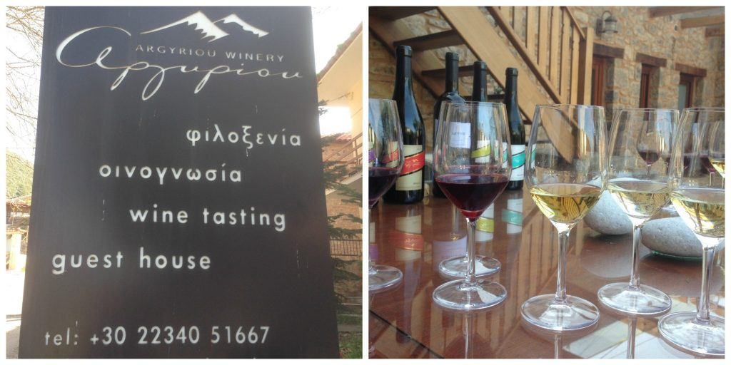 Wines at the Argyriou Winery - Greece Out Of Season