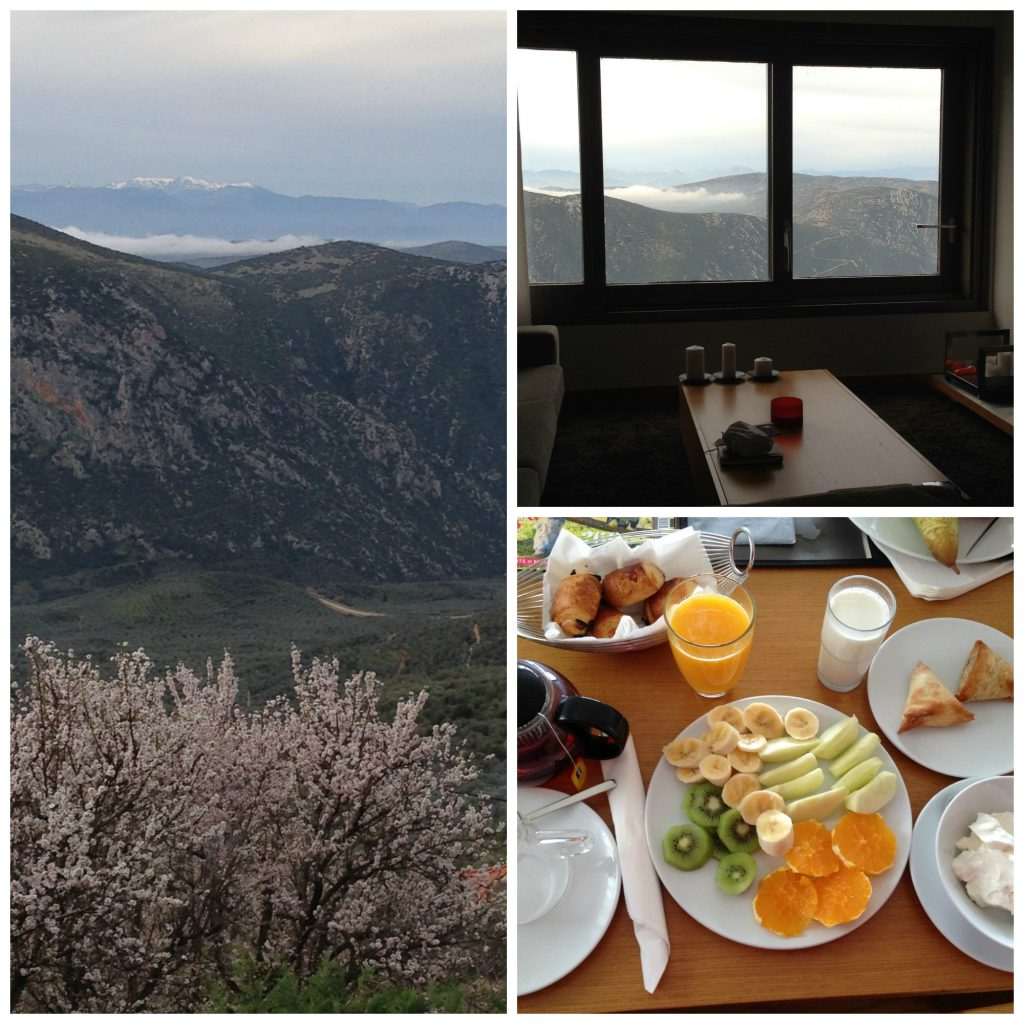 Breakfast with a view in Elafivolia Suites and Apartments - Arachova - Greece Out Of Season