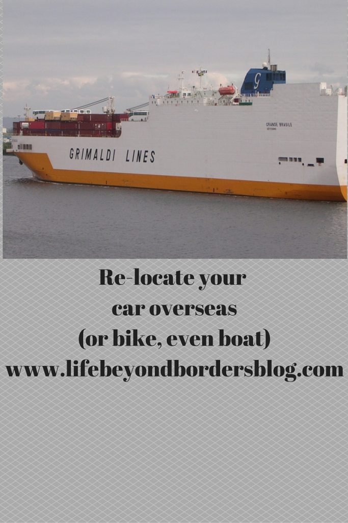Moving Overseas - ship your car