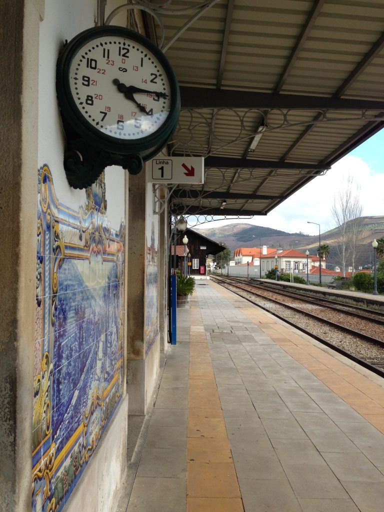 Pinhao's quaint train station in the Douro Valley region of North Portugal