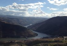 Views across the Douro Valley region of North Portugal . Stunning scenery