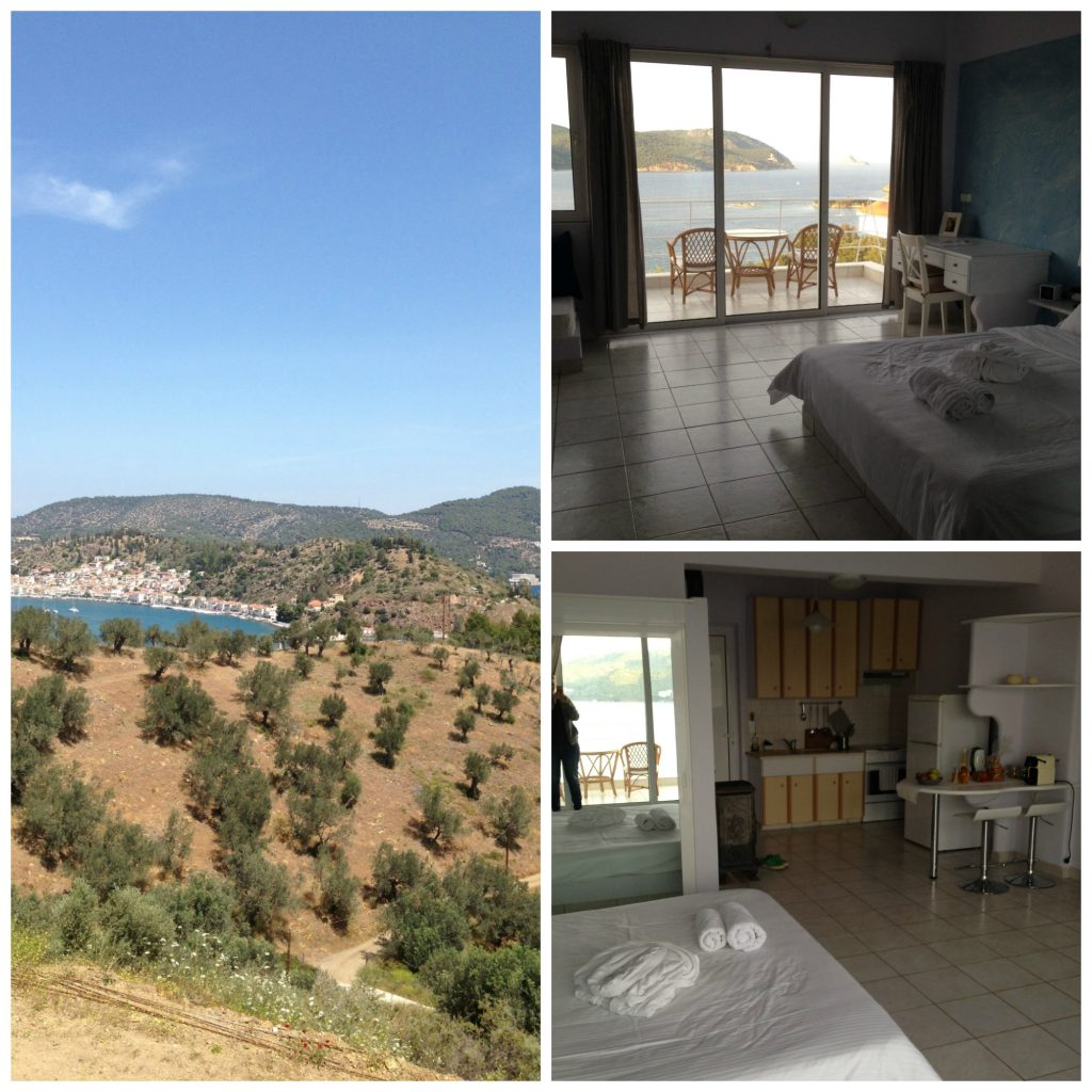 Live-Bio accommodation and views, Galatas, Peloponnese