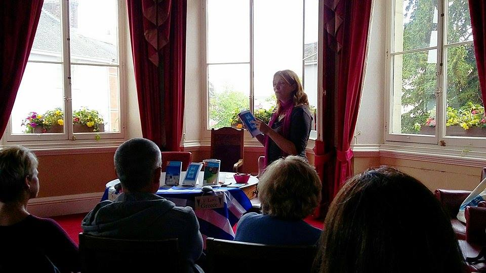 Presenting in the Mayor's Room - Tiverton Town Hall - Tiverton Literary Festival 2016