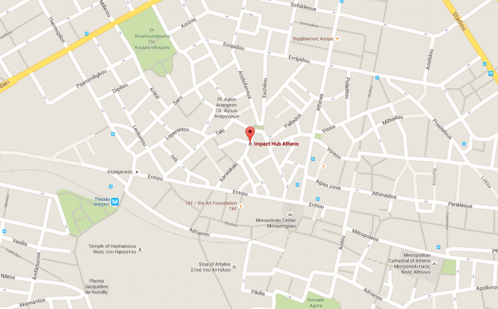 Location of Impact Hub Athens