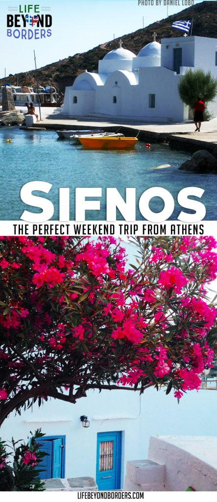 In the Cycladic chain of islands of Greece, about a 6 hour slow ferry or 3 hour catamaran ride away from Athens, Sifnos is the perfect island escape. Whitewashed houses and an artists haven, you simply must visit.