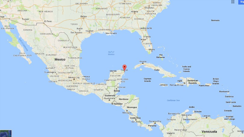 Where Cancun is located