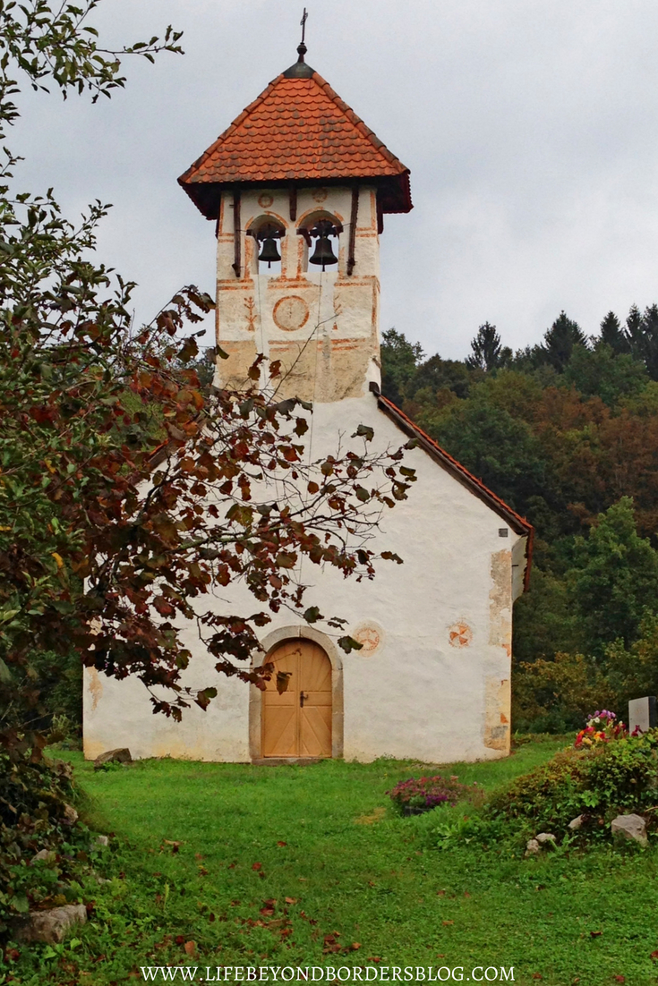 Discover Slovenia nature - All Saints Church at KrajinskIi Park Lahinja, Slovenia, Europe