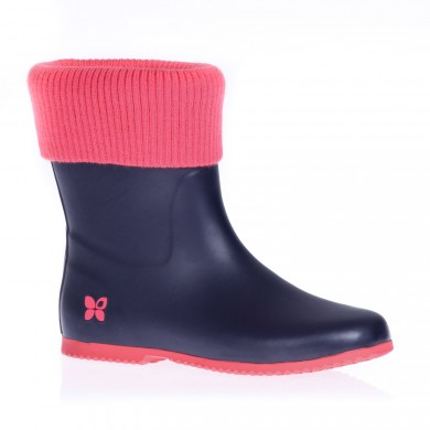 Eton Wellie in Navy and Coral - my favourite wellie!