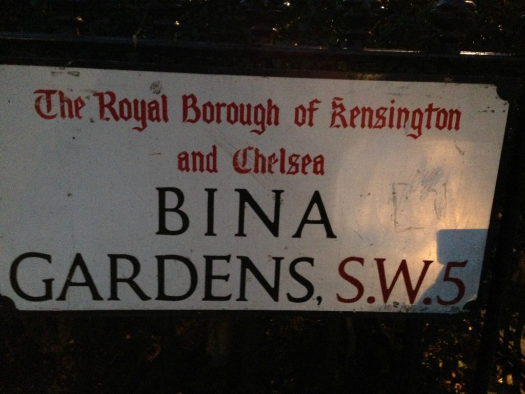 Bina Gardens - where my luxury serviced apartment in London was located. Life Beyond Borders