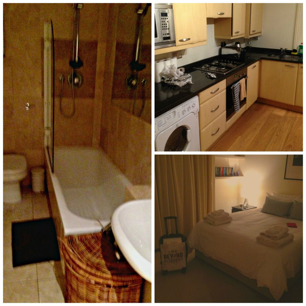 Bathroom, Kitchen and Bedroom of my City Relay property at Bina Gardens - London. Life Beyond Borders