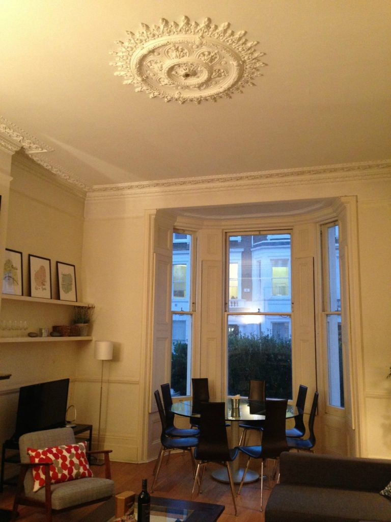 Beautiful living room at Bina Gardens property - London, through City Relay. Life Beyond Borders