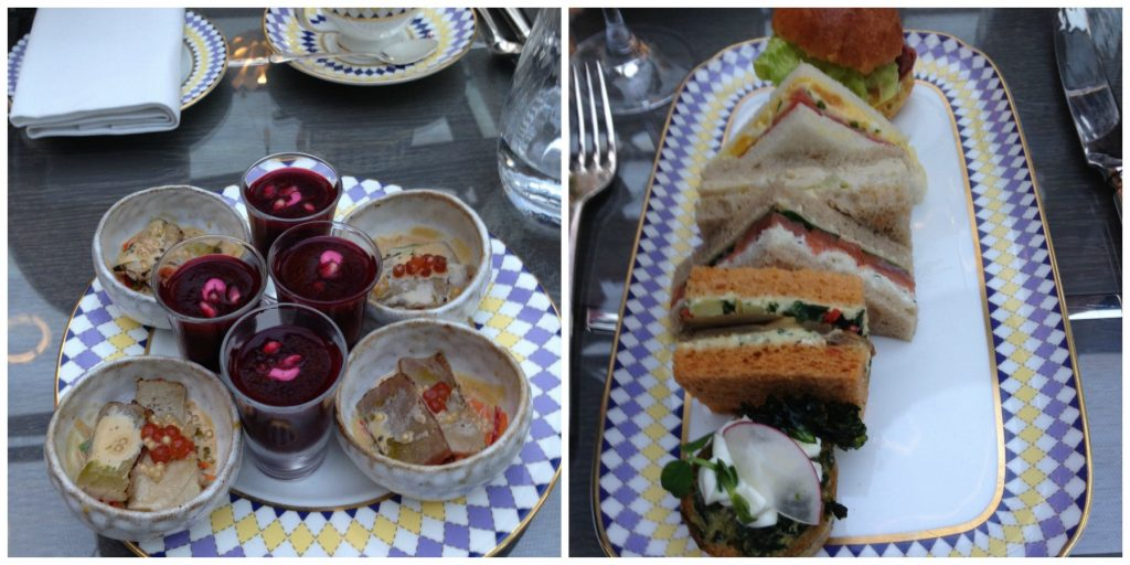 Savoury dishes at High Tea at The Berkeley - London. Life Beyond Borders