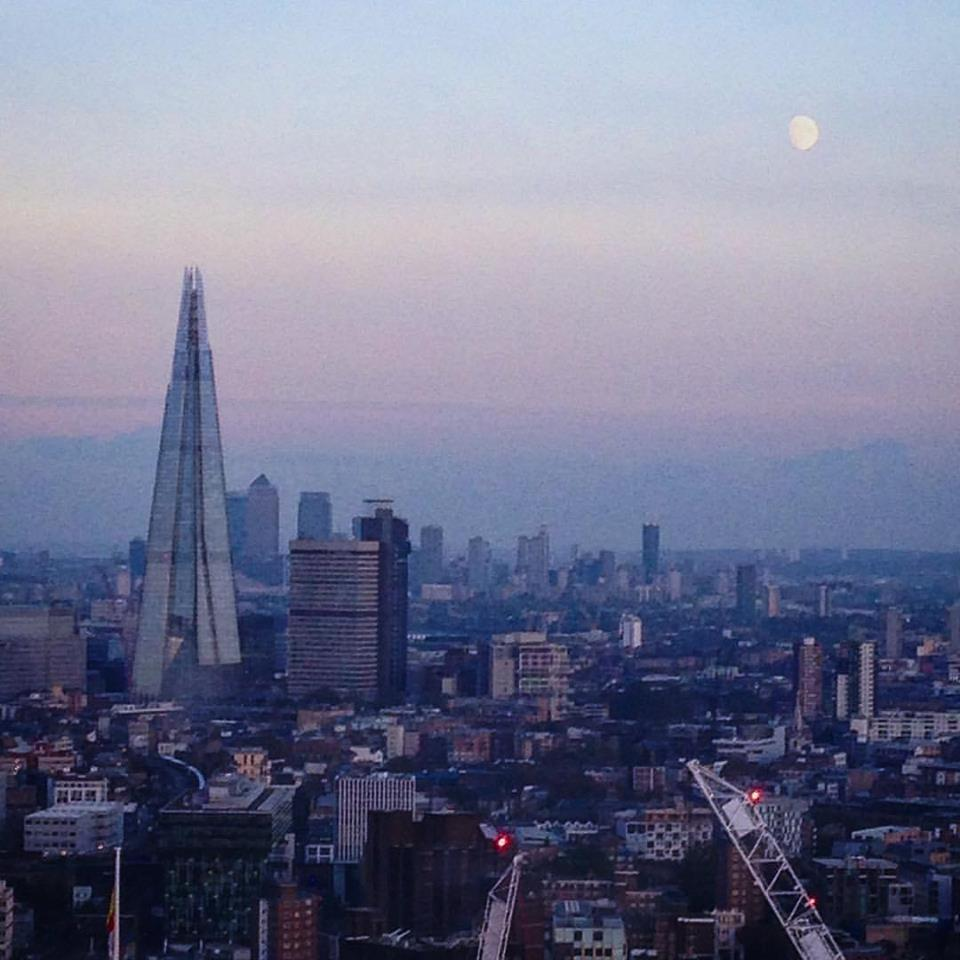 View of the Shard from the London Eye - beautiful!