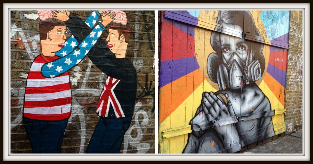 Spitalfields street art on display as seen on my Eating London Food Tour - LifeBeyondBorders