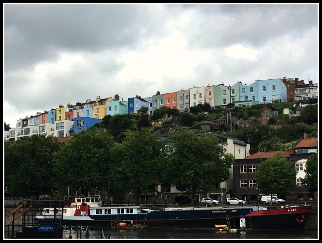 Colourful houses above the floating harbour at CliftonWood - Things to see in Bristol