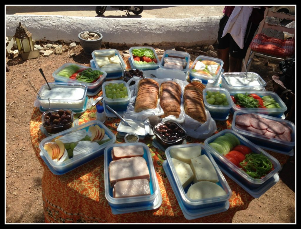 Delicious lunch with Mykonos Sea Kayaking. Life Beyond Borders