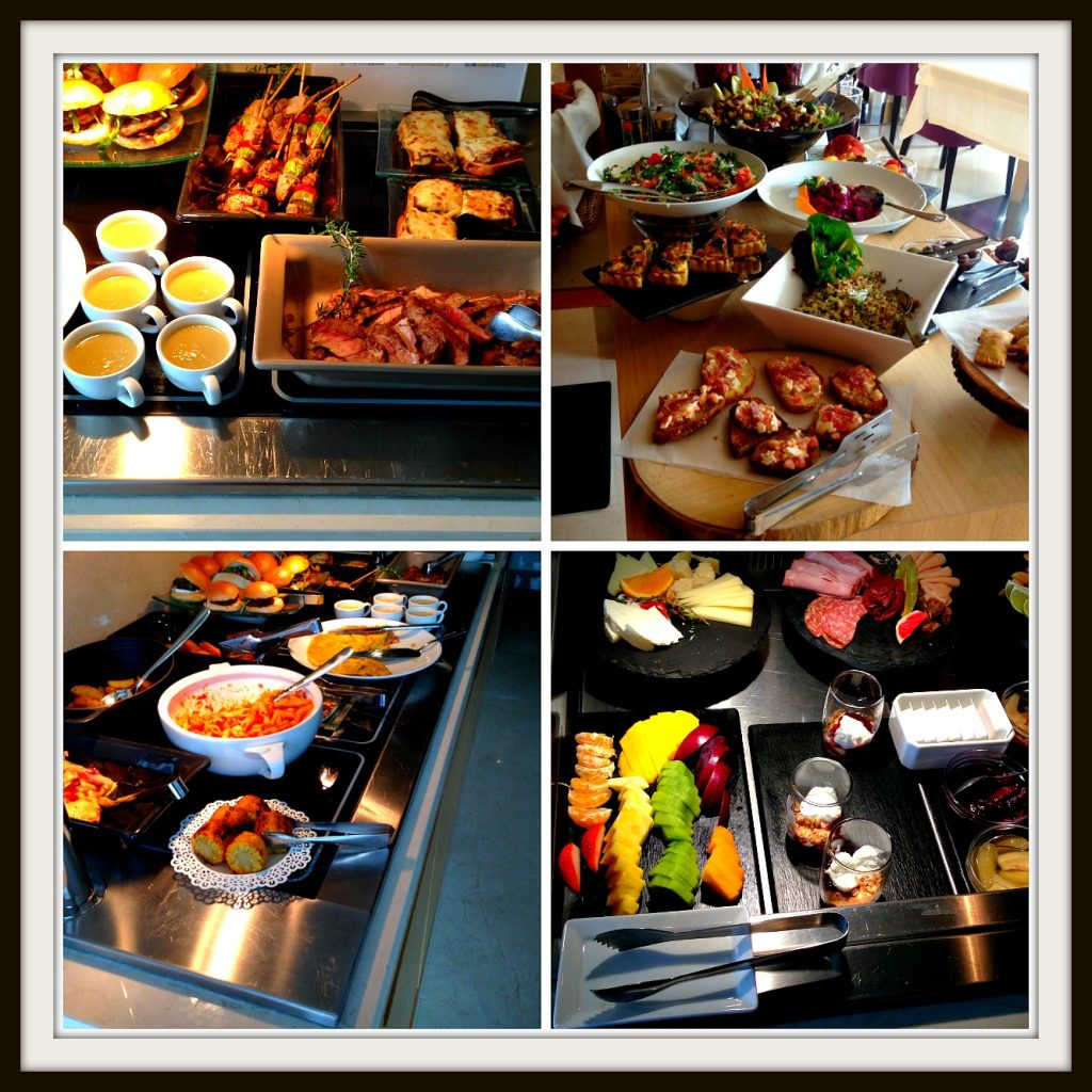 Hot and Cold Buffet selection at the Somewhere Hotel