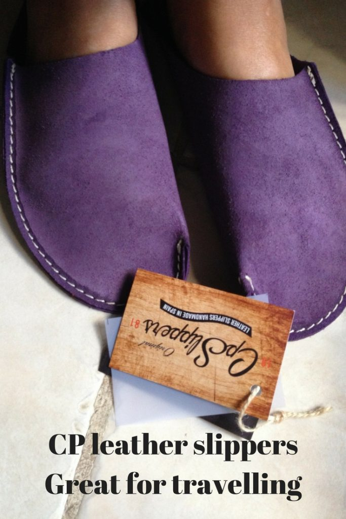 CP Leather Slippers - Great for travelling