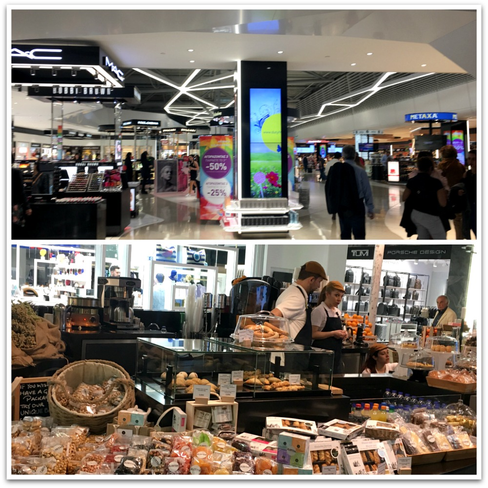 Duty free shopping at Athens Int. Airport - plus local goods . LifeBeyondBorders