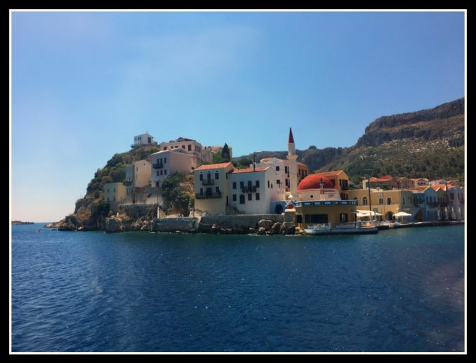 The pretty harbour of Kastellorizo island - Greece
