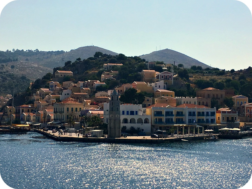 Beautiful view of Symi Harbour - Greece