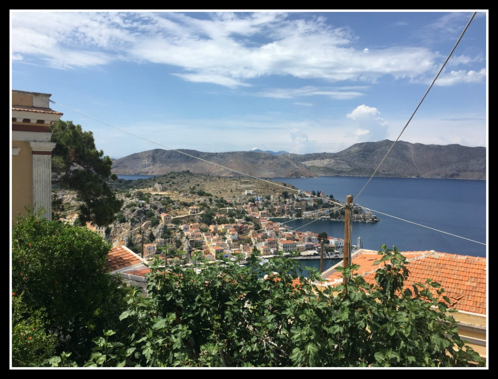 View of Symi Harbour from the Hora