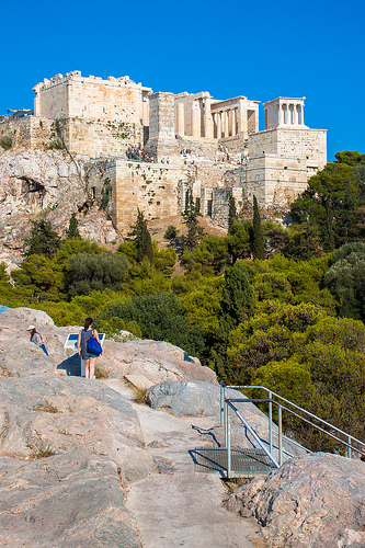 Areopagus Hill, Athens, Greece photo