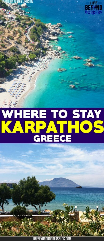 "Come and explore where to stay on the remote Greek island of Karpathos. Top photo: <a href=""https://www.flickr.com/photos/kostas-limitsios/14399114188/"" target=""_blank"" rel=""noopener noreferrer"">Apella beach, Karpathos, Greece</a>"" (<a href=""https://creativecommons.org/licenses/by/2.0/"" target=""_blank"" rel=""license noopener noreferrer"">CC BY 2.0</a>) by <a href=""https://www.flickr.com/people/kostas-limitsios/"" target=""_blank"" rel=""cc:attributionURL noopener noreferrer"">limitsios</a>"
