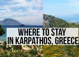 Where to stay on Karpathos island, Greece