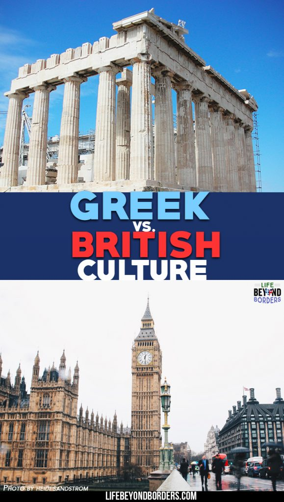 British Vs Greek culture - a look at the cultural differences between these two very different countries