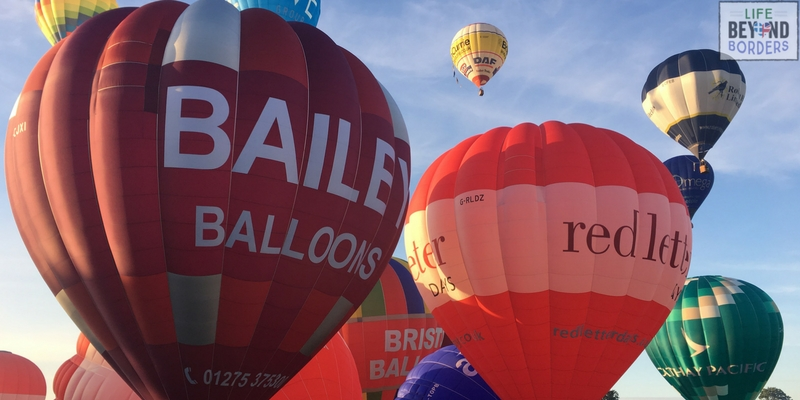 Getting ready for the Bristol International Balloon Festival Morning Rise with Bailey Balloons