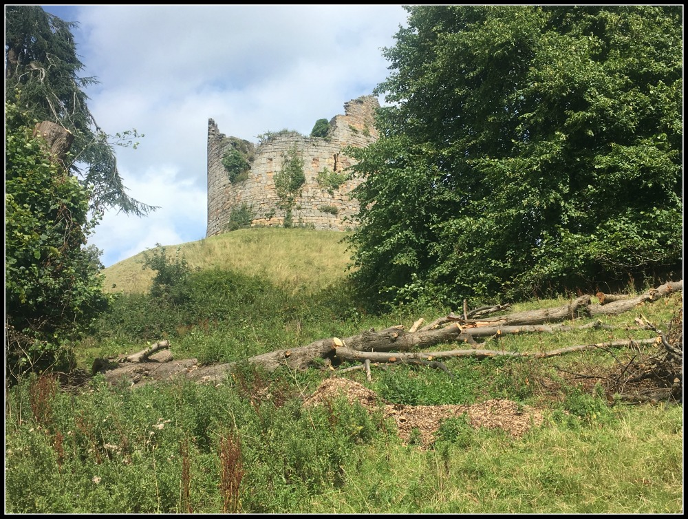 Ancient ruins of old Hawarden Castle - near Gladstone's Library, North Wales